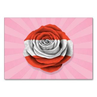 Bandera color de rosa austríaca en rosa