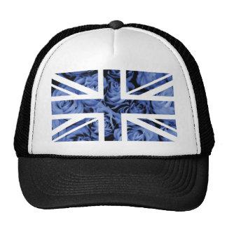 Bandera color de rosa azul de Union Jack Británico Gorras