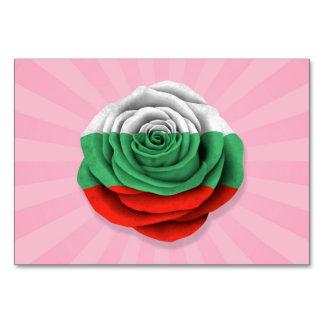 Bandera color de rosa búlgara en rosa