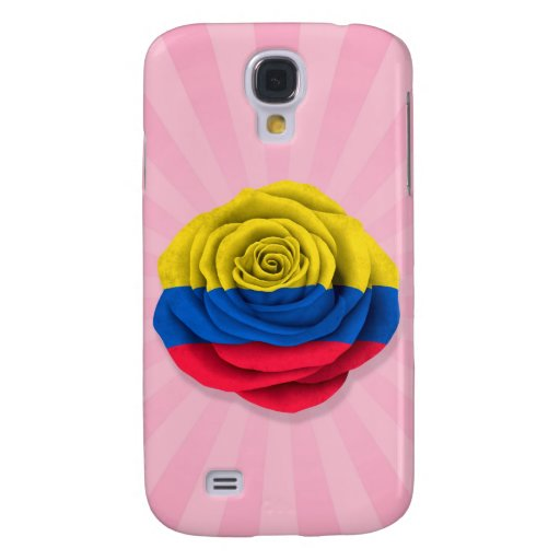 Bandera color de rosa colombiana en rosa
