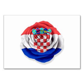 Bandera color de rosa croata en blanco