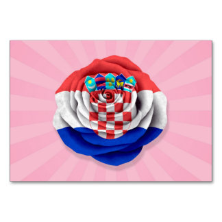 Bandera color de rosa croata en rosa