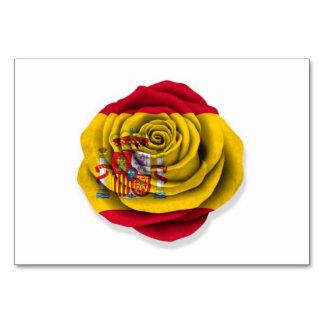 Bandera color de rosa española en blanco