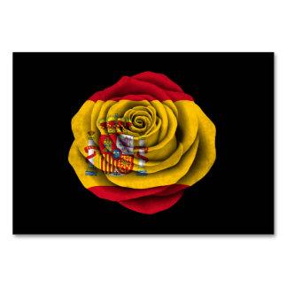 Bandera color de rosa española en negro