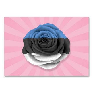 Bandera color de rosa estonia en rosa