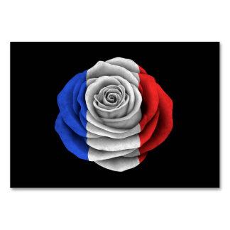 Bandera color de rosa francesa en negro
