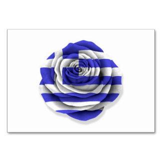 Bandera color de rosa griega en blanco