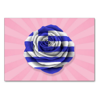 Bandera color de rosa griega en rosa