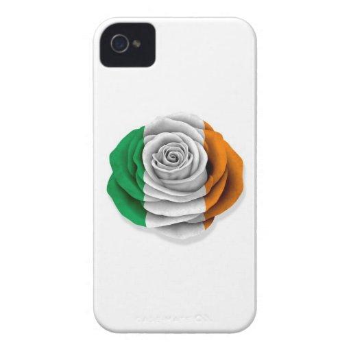 Bandera color de rosa irlandesa en blanco Case-Mate iPhone 4 funda