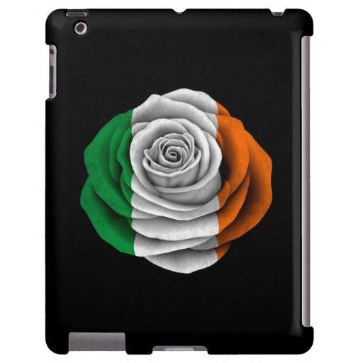 Bandera color de rosa irlandesa en negro