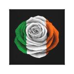 Bandera color de rosa irlandesa en negro impresion en lona