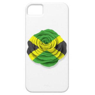 Bandera color de rosa jamaicana en blanco iPhone 5 Case-Mate coberturas