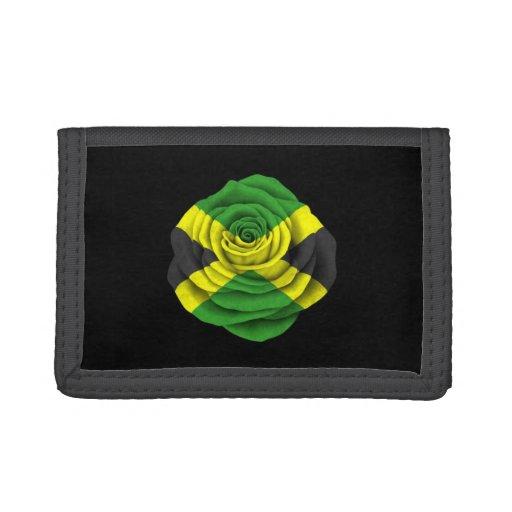 Bandera color de rosa jamaicana en negro