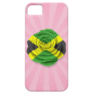 Bandera color de rosa jamaicana en rosa iPhone 5 cárcasa