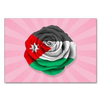Bandera color de rosa jordana en rosa