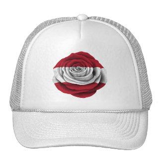 Bandera color de rosa letona gorras de camionero