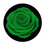 Bandera color de rosa libia en negro fichas de póquer