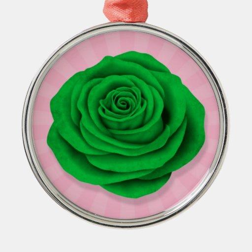 Bandera color de rosa libia en rosa adorno de reyes
