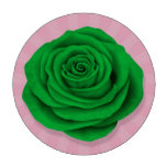 Bandera color de rosa libia en rosa juego de fichas de póquer