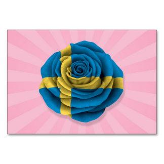 Bandera color de rosa sueca en rosa