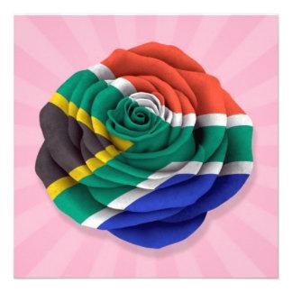 Bandera color de rosa surafricana en rosa anuncio