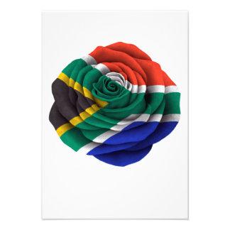 Bandera color de rosa surafricana comunicados personalizados