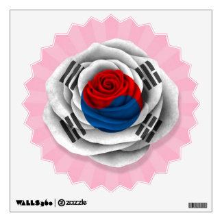 Bandera color de rosa surcoreana en rosa vinilo