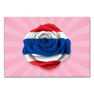 Bandera color de rosa tailandesa en rosa