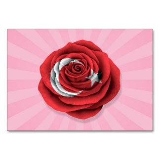 Bandera color de rosa turca en rosa