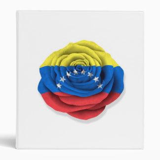 Bandera color de rosa venezolana en blanco