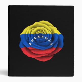 Bandera color de rosa venezolana en negro