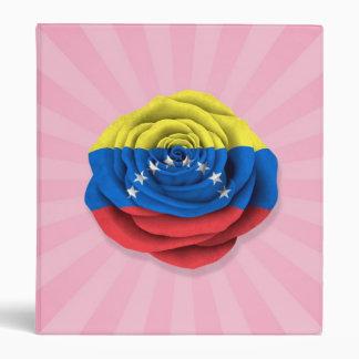Bandera color de rosa venezolana en rosa