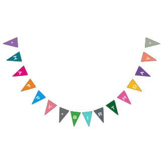 Bandera colorida adaptable del fiesta del feliz