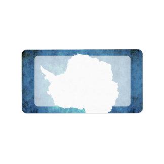 Bandera colorida de Antartican del contraste Etiquetas De Dirección