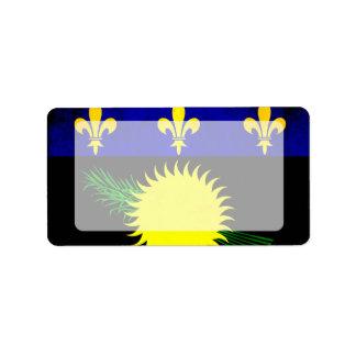 Bandera colorida de Guadeloupean del contraste Etiquetas De Dirección