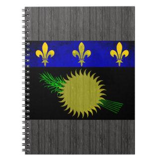 Bandera colorida de Guadeloupean del contraste Spiral Notebook