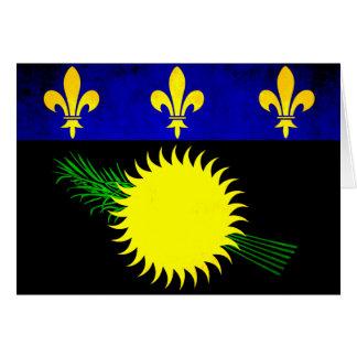 Bandera colorida de Guadeloupean del contraste Felicitación
