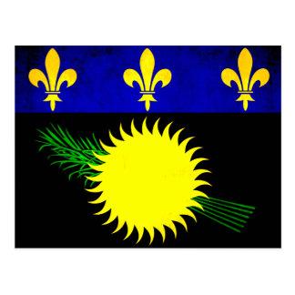 Bandera colorida de Guadeloupean del contraste Tarjeta Postal