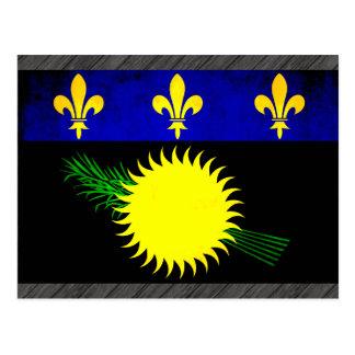 Bandera colorida de Guadeloupean del contraste Tarjetas Postales