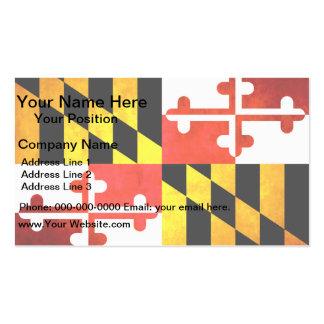 Bandera colorida de Marylander del contraste Plantilla De Tarjeta De Negocio