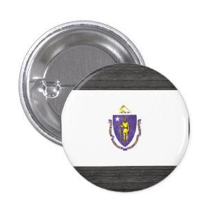 Bandera colorida de Massachusettsan del contraste Pin