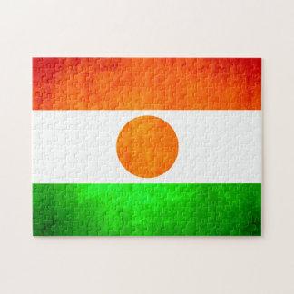 Bandera colorida de Nigerien del contraste Puzzle Con Fotos