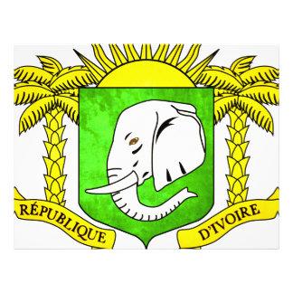 Bandera colorida de persona de Costa de Marfil del Tarjetones