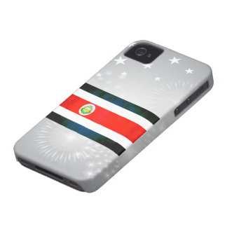 Bandera colorida de Rican de la costa del iPhone 4 Case-Mate Coberturas
