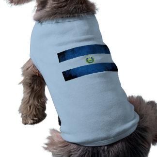 Bandera colorida de salvadoreño del contraste playera sin mangas para perro