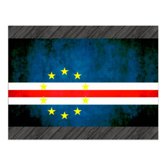 Bandera colorida de Verdian del cabo del contraste Tarjetas Postales