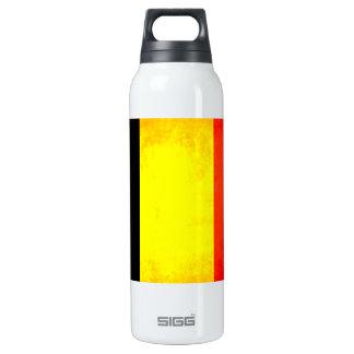 Bandera colorida del belga del contraste botella isotérmica de agua