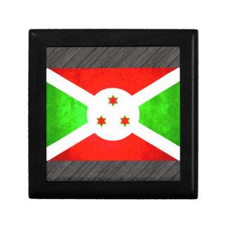 Bandera colorida del Burundian del contraste Caja De Regalo