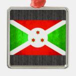 Bandera colorida del Burundian del contraste Ornamentos De Navidad