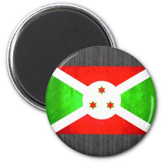Bandera colorida del Burundian del contraste Iman